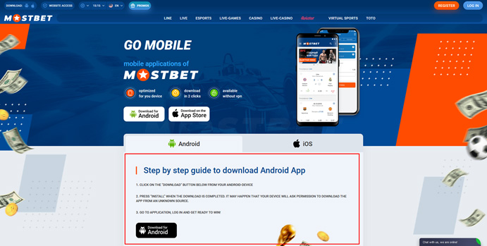 Mostbet Application for Android