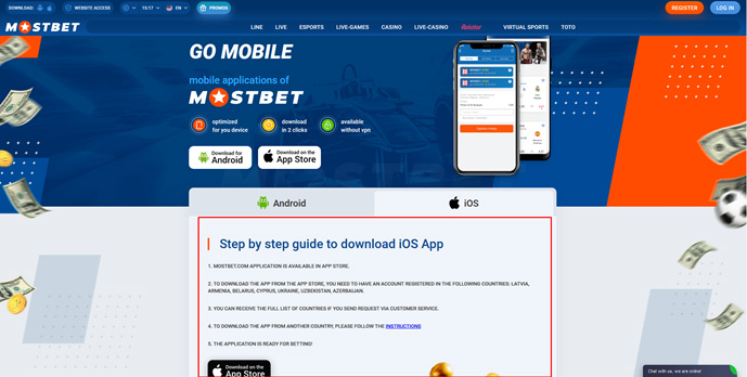 Mostbet Application for iPhone