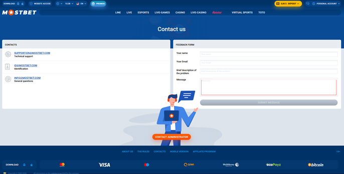 Mostbet Technical Support